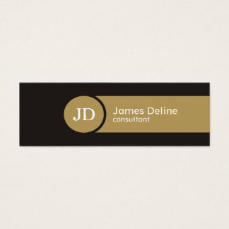 Grey Brown Monogram Consultant Business Card