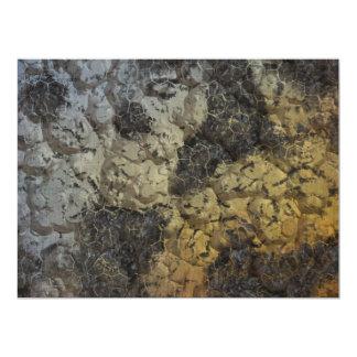 Grey brown texture 17 cm x 22 cm invitation card