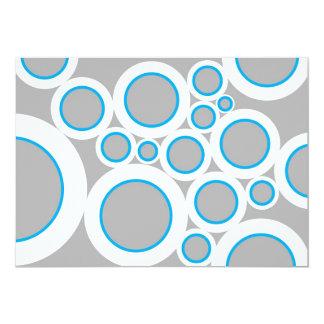 Grey Bubbles 13 Cm X 18 Cm Invitation Card