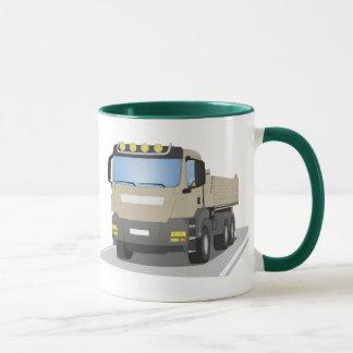 grey building sites truck mug