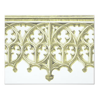 "Grey & Buttercream Cathedral Wedding Invitation 4.25"" X 5.5"" Invitation Card"
