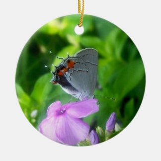 Grey Butterfly2 / New Creation Round Ceramic Decoration