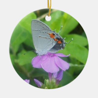 Grey Butterfly/ New Creation Round Ceramic Decoration