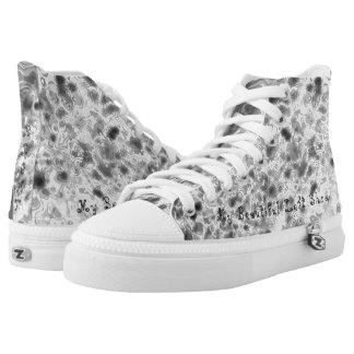 Grey Camo Printed Shoes