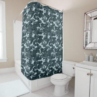 Grey Camo Shower Curtain