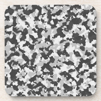 Grey Camouflage Beverage Coasters