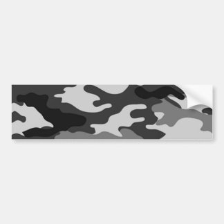 Grey camouflage bumper sticker