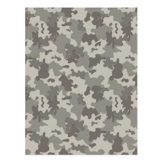 Grey Camouflage Postcard