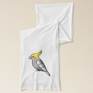 Grey Cartoon Cockatiel Parrot Bird Scarf