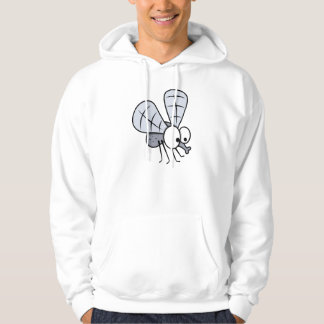 Grey Cartoon House Fly Hoodie