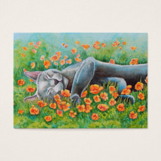 Grey Cat Double sided ACEO Business Card