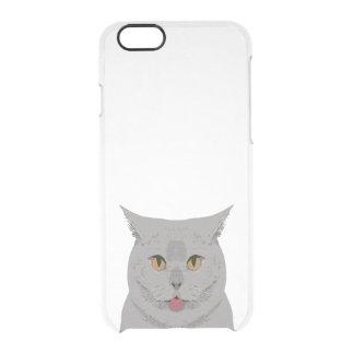 Grey Cat iphone case - cat clear case