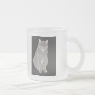 Grey Cat Merchandise Frosted Glass Mug