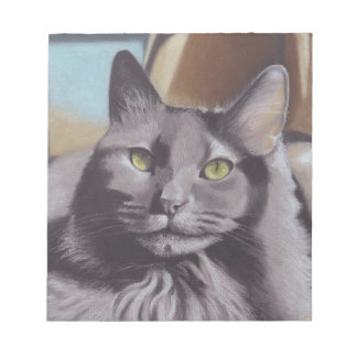 Grey Cat Pet Portrait Notepad