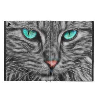 Grey Cat Portrait Fractal Art, iPad Air Case