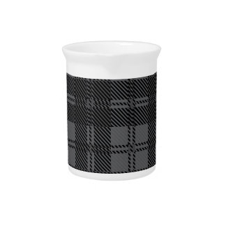 Grey Check Tartan Wool Material Pitcher