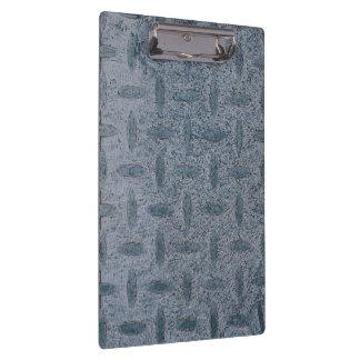 Grey checker plate clipboard using horizontal imag