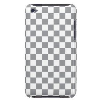 Grey Checkerboard Barely There iPod Case