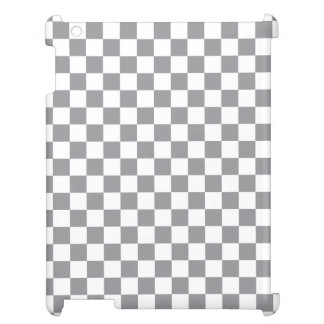 Grey Checkerboard Case For The iPad 2 3 4