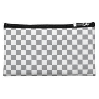 Grey Checkerboard Cosmetics Bags