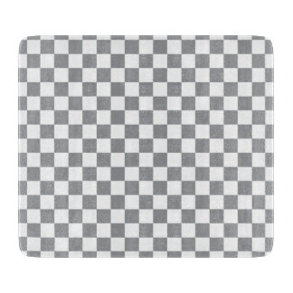 Grey Checkerboard Cutting Board