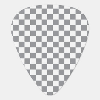 Grey Checkerboard Guitar Pick