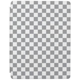 Grey Checkerboard iPad Cover