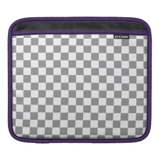 Grey Checkerboard iPad Sleeve