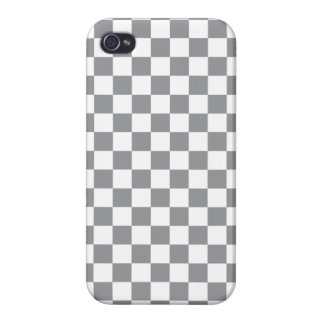 Grey Checkerboard iPhone 4/4S Case