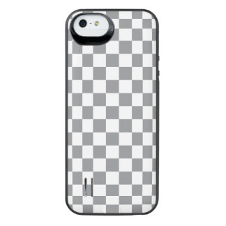 Grey Checkerboard iPhone SE/5/5s Battery Case