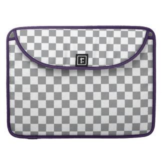 Grey Checkerboard MacBook Pro Sleeve