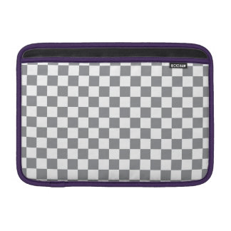 Grey Checkerboard MacBook Sleeves