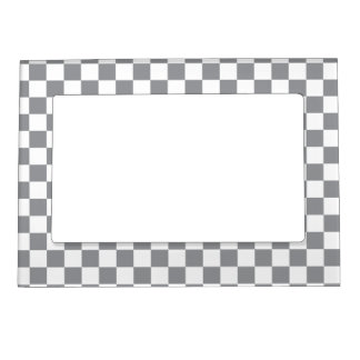 Grey Checkerboard Magnetic Picture Frame