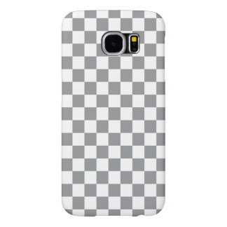 Grey Checkerboard Samsung Galaxy S6 Cases