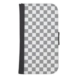 Grey Checkerboard Samsung S4 Wallet Case