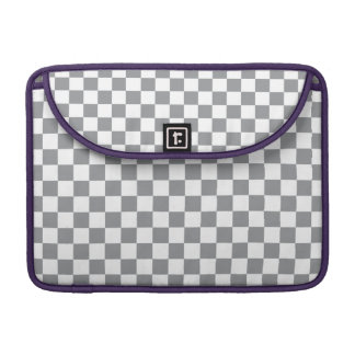Grey Checkerboard Sleeves For MacBook Pro