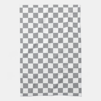 Grey Checkerboard Tea Towel