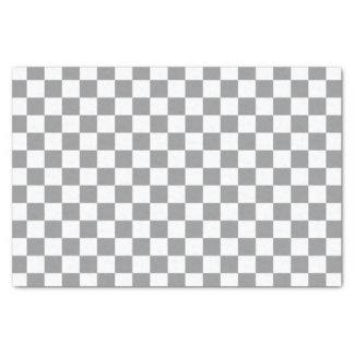 Grey Checkerboard Tissue Paper