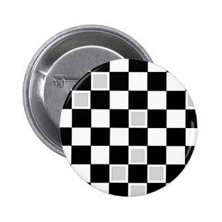 Grey Checkers 6 Cm Round Badge