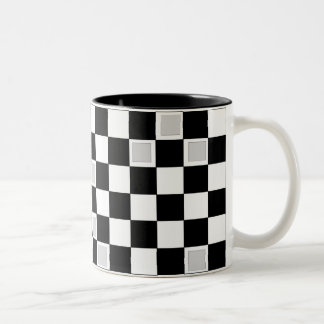 Grey Checkers Mugs