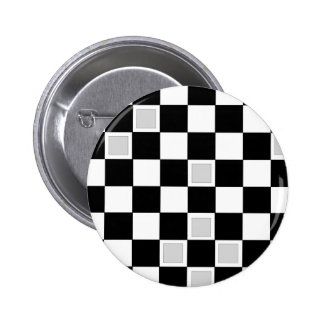 Grey Checkers Pin