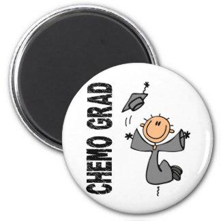 Grey CHEMO GRAD 1 (Brain Cancer) 6 Cm Round Magnet