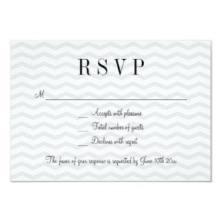 Grey chevron pattern RSVP wedding response cards 9 Cm X 13 Cm Invitation Card