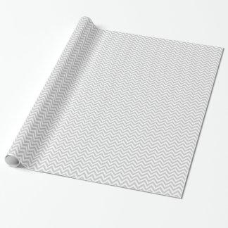 Grey chevron pattern wrapping paper | Customizable