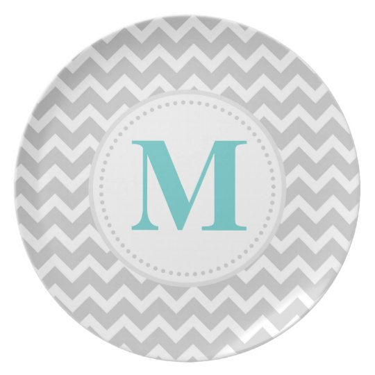 Grey Chevron Plate
