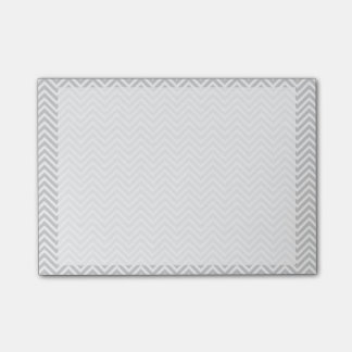 Grey chevron post-it notes