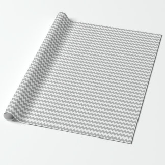 Grey Chevron Wrapping Paper
