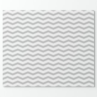 Grey chevron zigzag pattern wrappingpaper