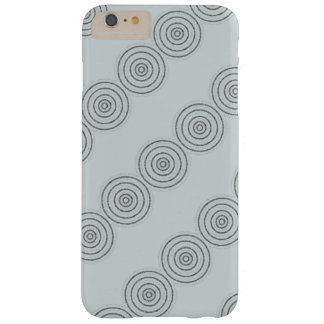 Grey circle  design barely there iPhone 6 plus case