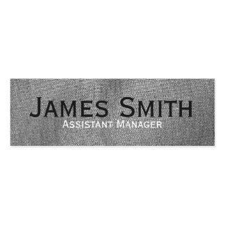 Grey Cloth Executive Pack Of Skinny Business Cards